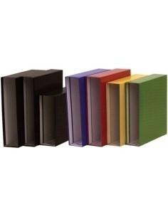 Cuaderno Espiral Cuadricula 4x4mm Tapas Forradas Color Violeta  A4
